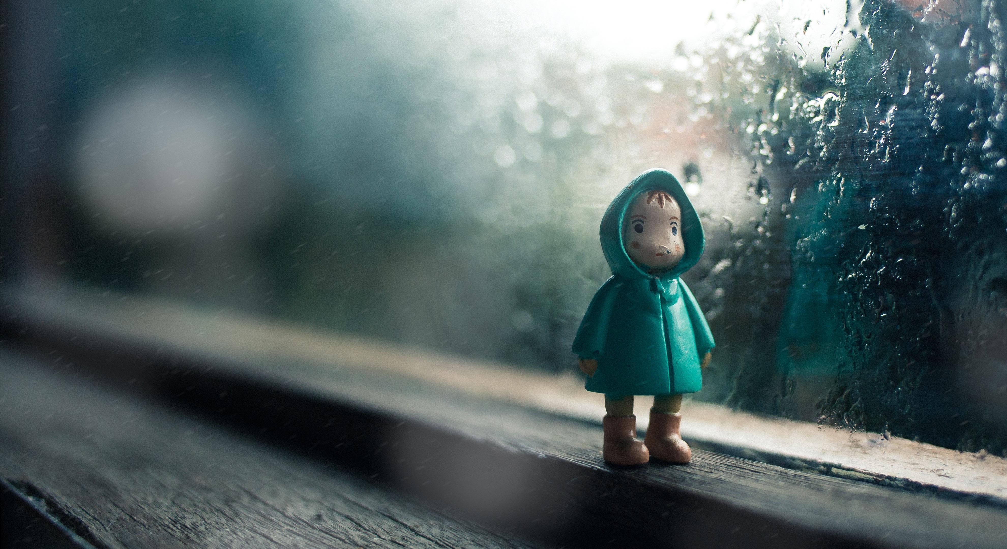 rain with doll