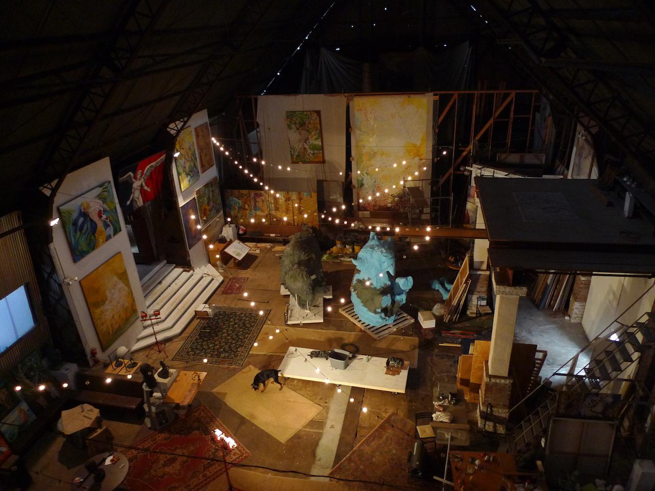 Stan Mullins's studio