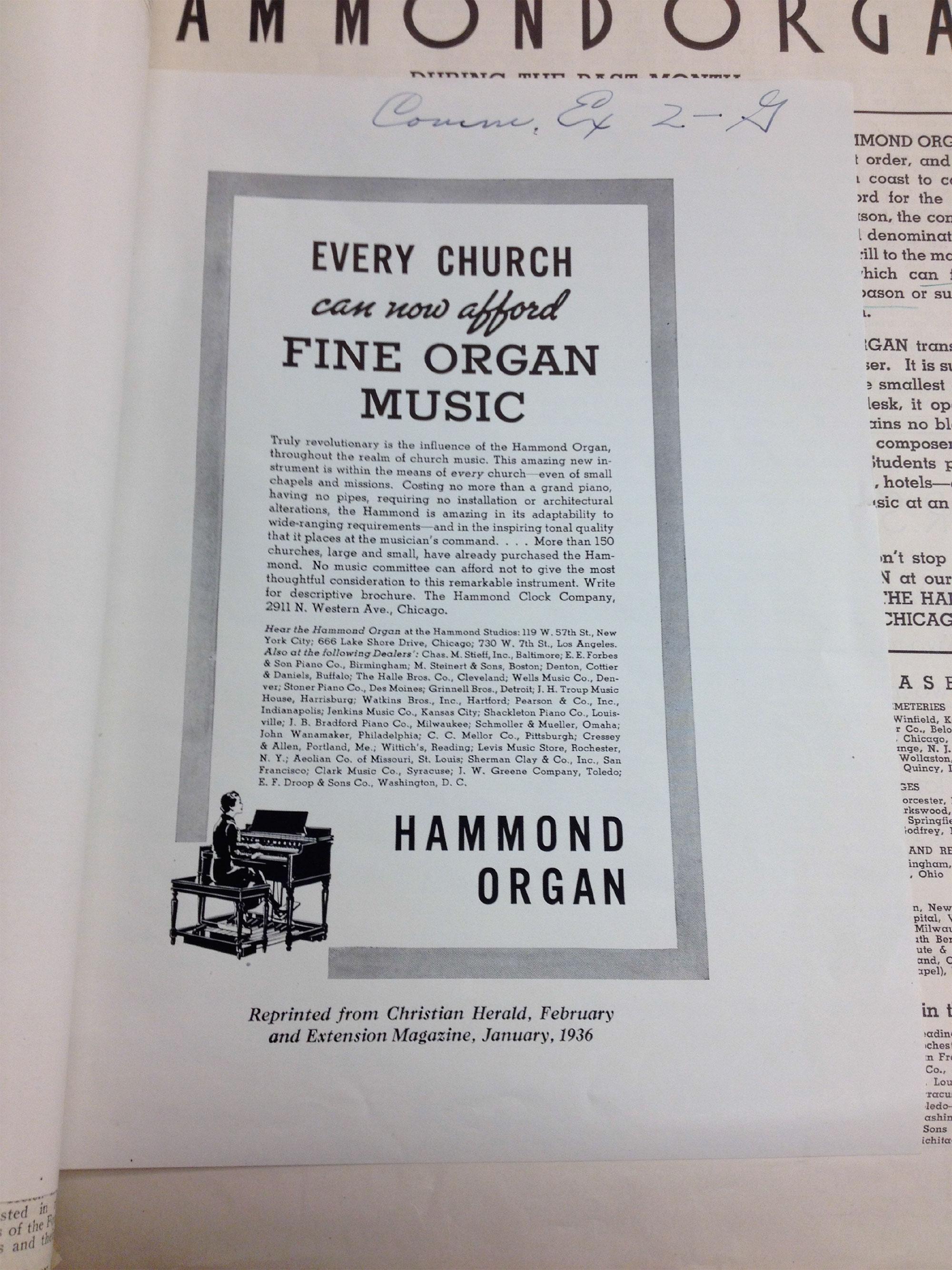 "Hearing"" the Hammond Organ   NewMusicBox"