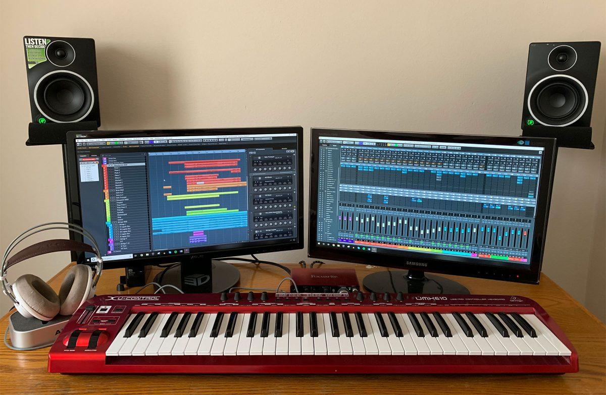 Tony's home studio setup