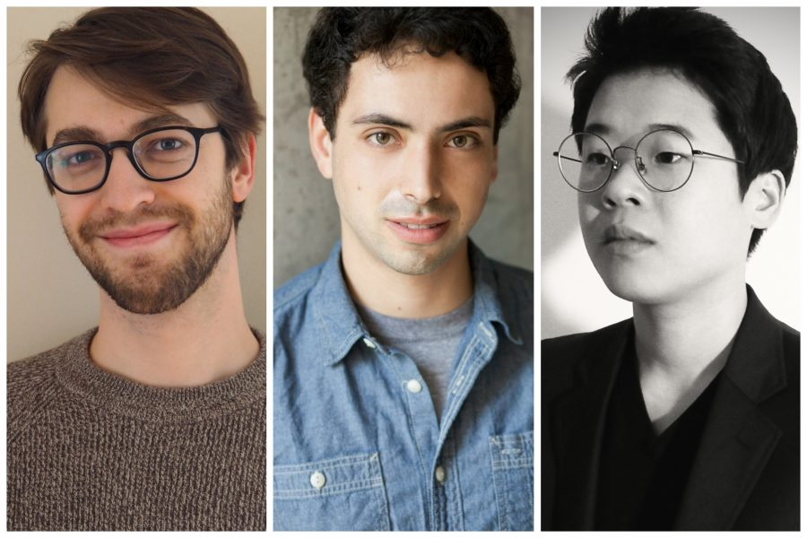 Jack Hughes, Aaron Israel Levin, and Jihyun Kim. (Photos courtesy American Composers Orchestra)