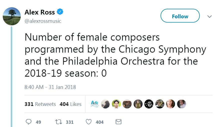 Alex Ross tweet