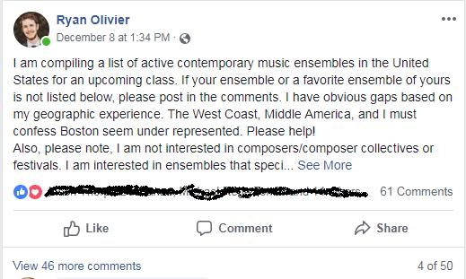 Ryan Olivier FB thread