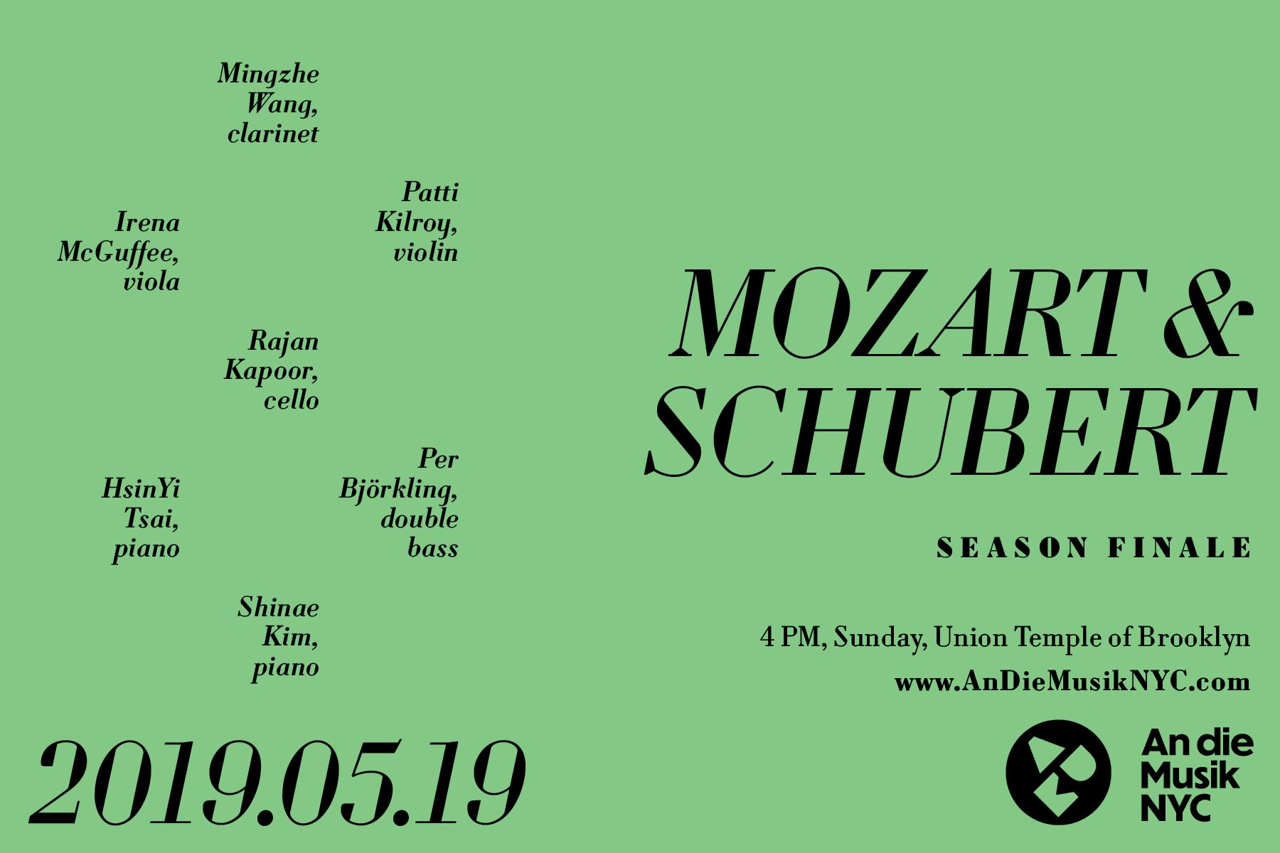 ADM Season Finale: Kegelstatt Trio and Trout Quintet