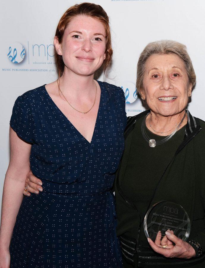 Brittain Ashford and Iris Manus holding her MPA Lifetime Achievement Award