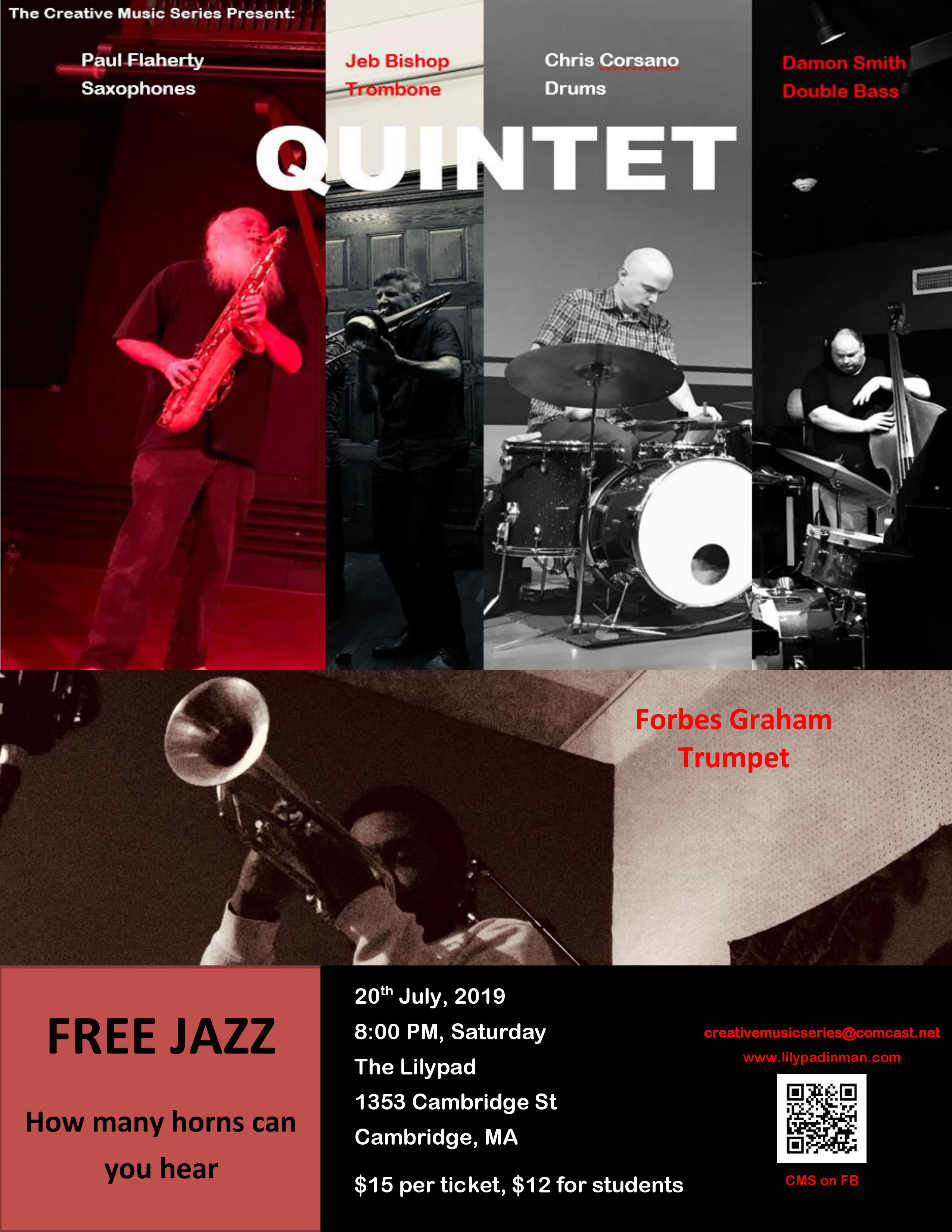 event image for More unrestricted, unrehearsed and creative music ala Free-Jazz