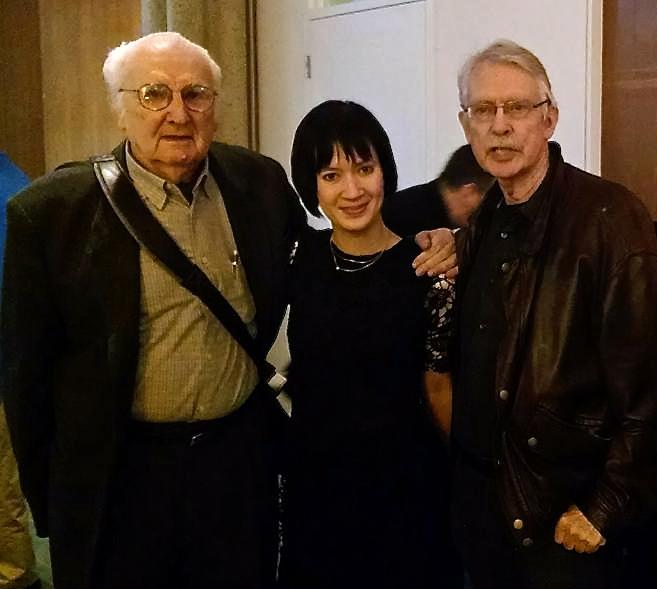 Mario Davidovsky and Miranda Cuckson with John Harbison