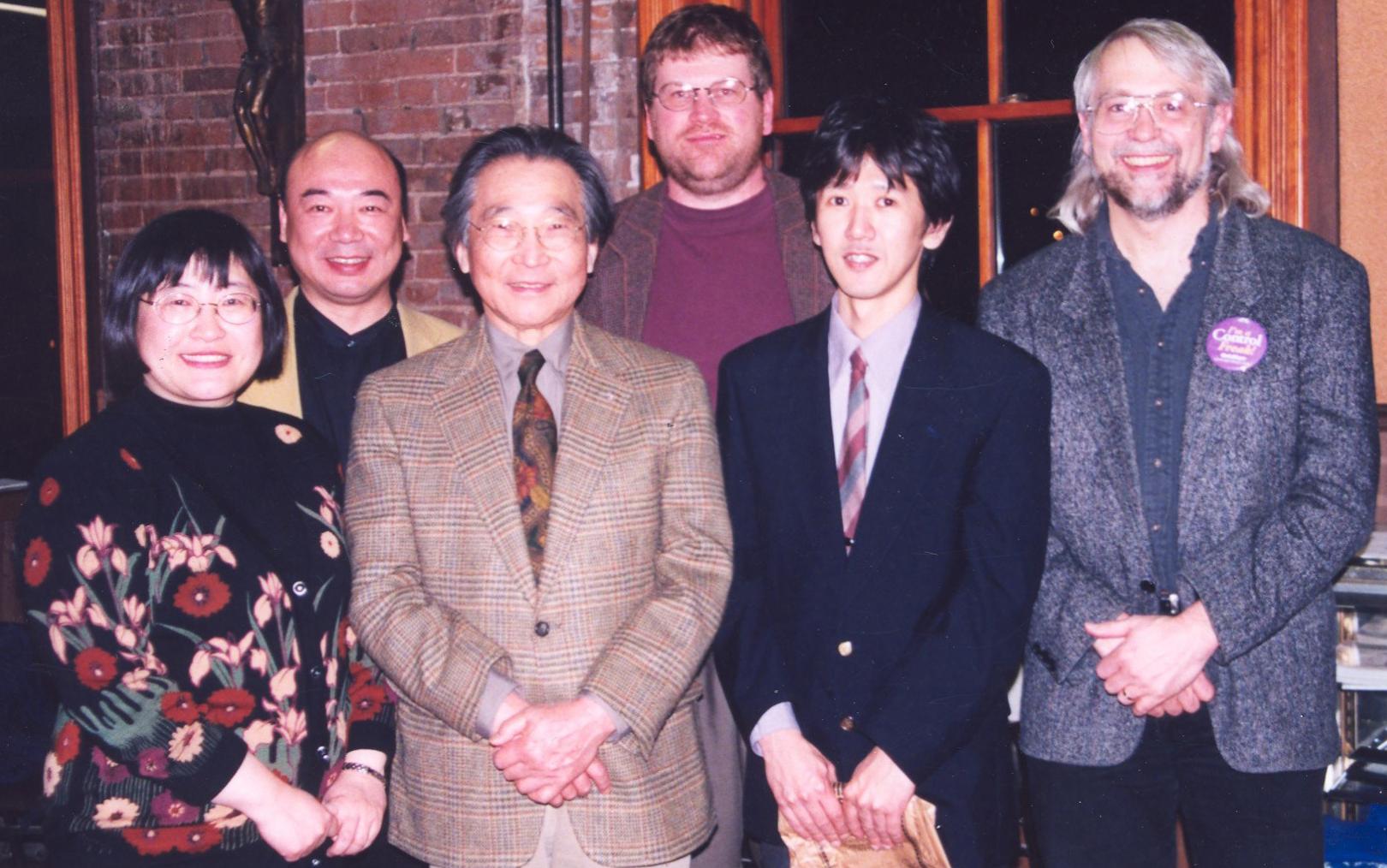 Chen Yi, Zhou Long. Chou Wen-chung, Paul Rudy, Kihei Mukai, and James Mobberley