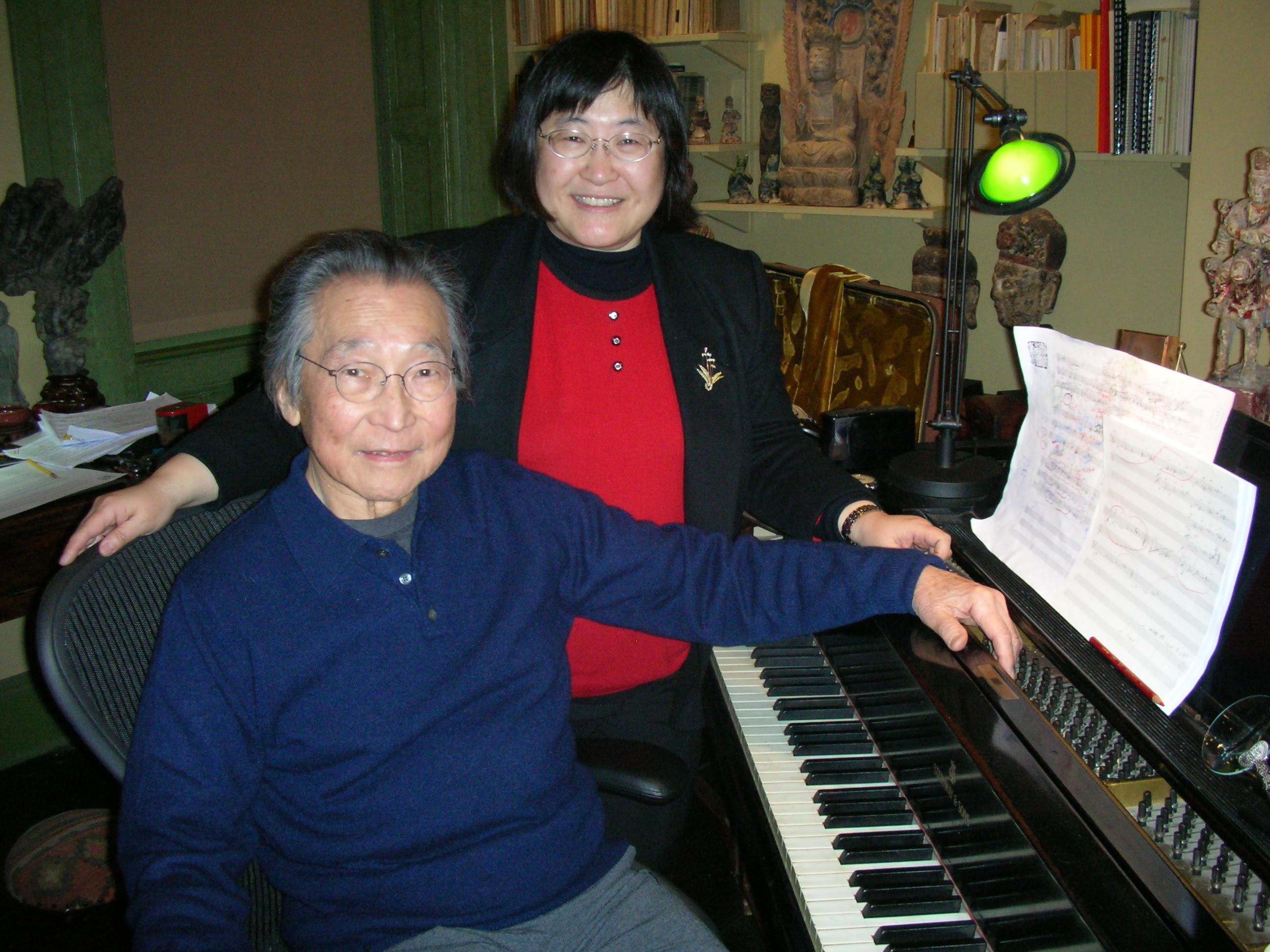 Chen Yi with Chou Wen-chung at the piano.
