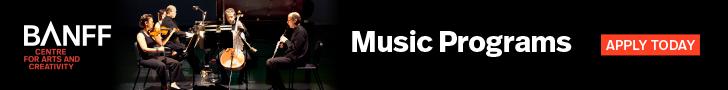 Advertisement: Banff Music Programs