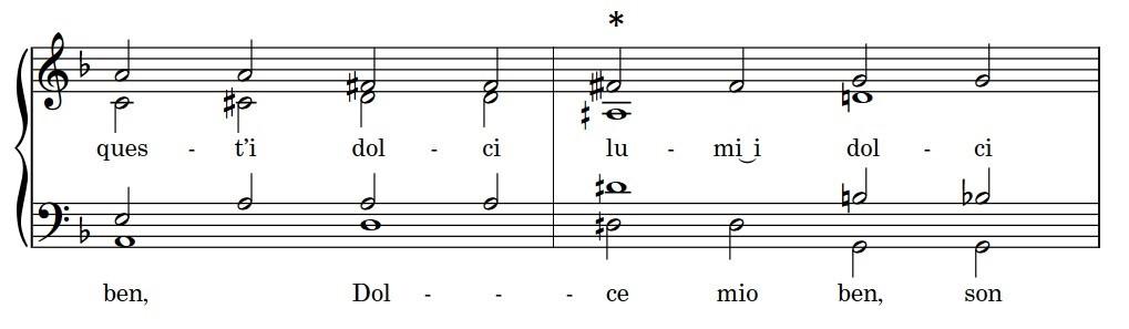 Score excerpt of Nicolà Vicentino's