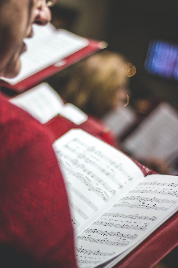 Chorister singing