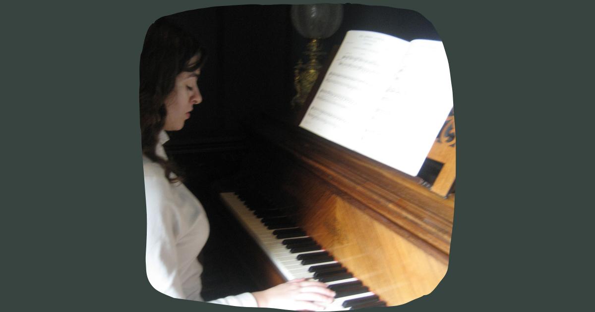 Julia Adolphe at the Piano